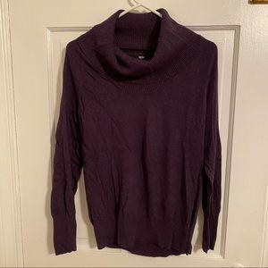 Cowl neck Eggplant Lightweight Sweater